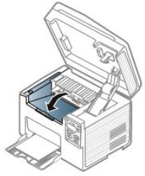 Image shows reinstalling the toner cartridge