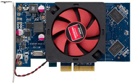 View of Radeon R5 330 graphics card