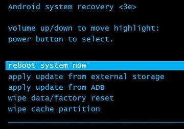 Reiniciar el sistema ahora