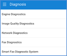 Diagnosis menu