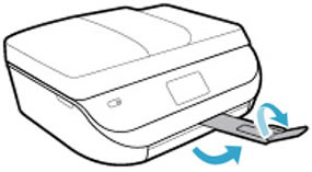 Saque la bandeja de salida y levante el extensor de la bandeja de salida