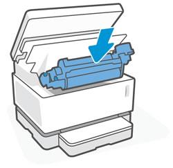 Установка барабана переноса изображений обратно в принтер