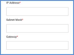 Service: IP Address setting