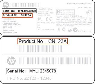 product number