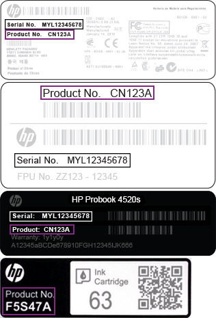 how to find hp product id
