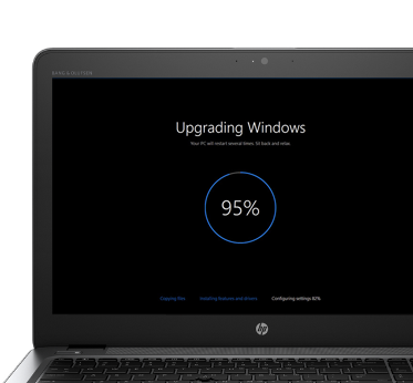 configuring windows update stuck at 100